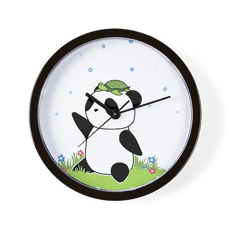 Turtle on a Panda Wall Clock