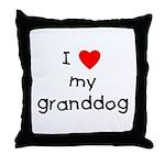 I love my granddog Throw Pillow