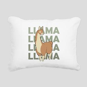 Llama, Llama, Llama! Rectangular Canvas Pillow