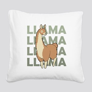 Llama, Llama, Llama! Square Canvas Pillow