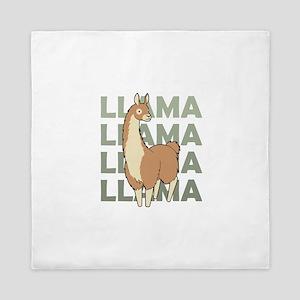 Llama, Llama, Llama! Queen Duvet