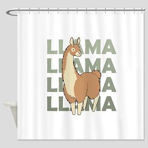 Llama, Llama, Llama! Shower Curtain