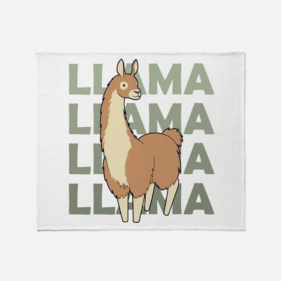 Llama, Llama, Llama! Throw Blanket