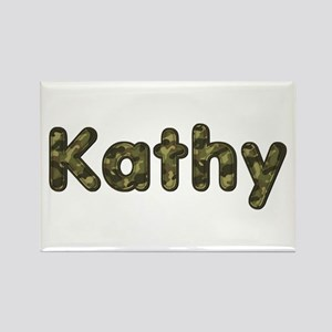 Kathy Army Rectangle Magnet