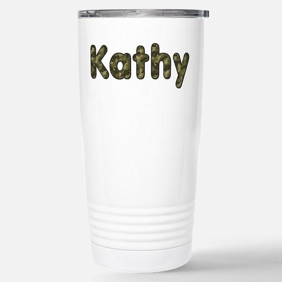 Kathy Army Stainless Steel Travel Mug
