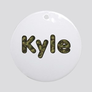 Kyle Army Round Ornament