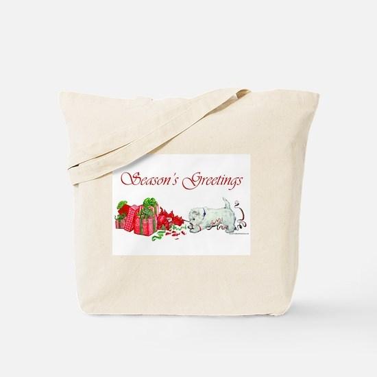 Westie Greetings Tote Bag