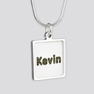 Kevin Army Silver Square Necklace