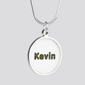 Kevin Army Silver Round Necklace