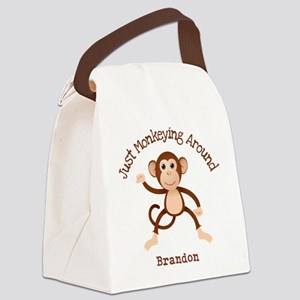 Just Monkeying Around Canvas Lunch Bag
