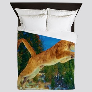 Leaping Cougar Queen Duvet
