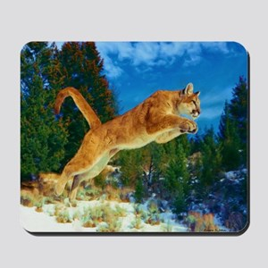 Leaping Cougar Mousepad