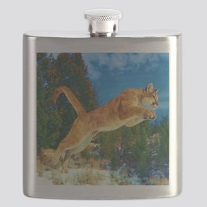 Leaping Cougar Flask
