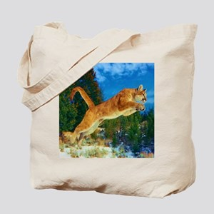 Leaping Cougar Tote Bag