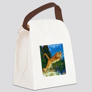 Leaping Cougar Canvas Lunch Bag