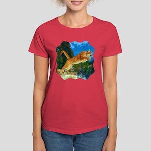 Leaping Cougar Women's Dark T-Shirt