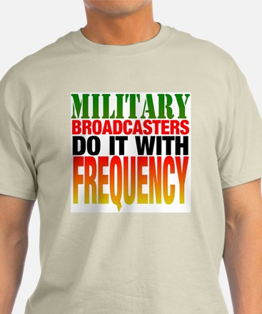 Military Broadcasters... Ash Grey T-Shirt