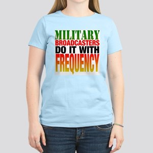 Military Broadcasters... Women's Pink T-Shirt