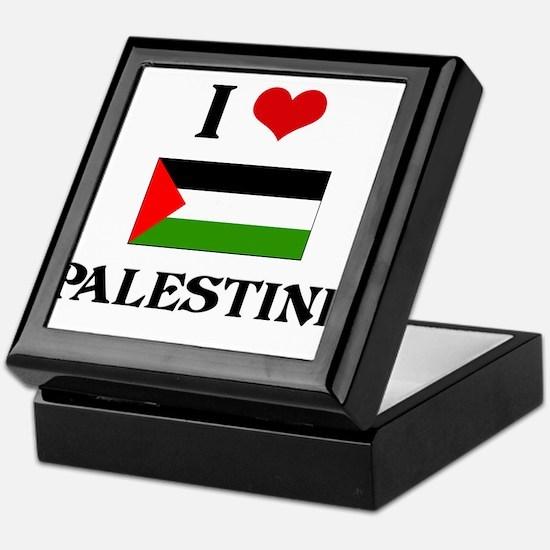 I HEART PALESTINE FLAG Keepsake Box