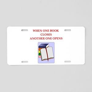 BOOKS13 Aluminum License Plate
