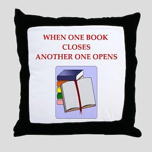 BOOKS13 Throw Pillow