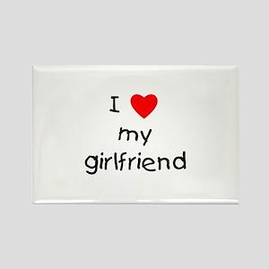 I love my girlfriend Rectangle Magnet
