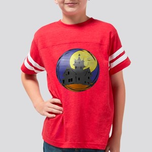 Haunted house 12x12R-T Youth Football Shirt