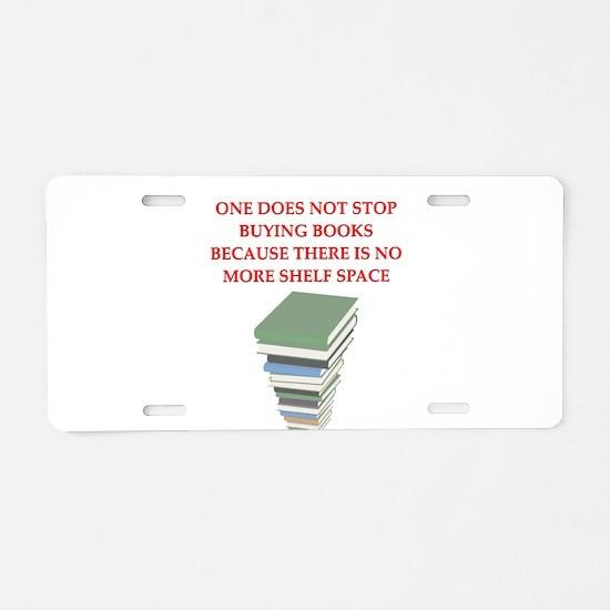 BOOKS8 Aluminum License Plate