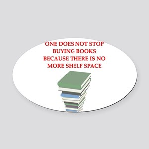 BOOKS8 Oval Car Magnet