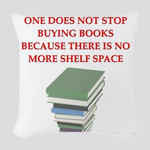 BOOKS8 Woven Throw Pillow