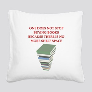 BOOKS8 Square Canvas Pillow