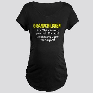 Grandchildren Reward Maternity Dark T-Shirt