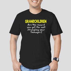 Grandchildren Reward Men's Fitted T-Shirt (dark)
