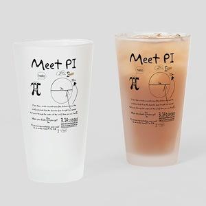 Meet Pi Drinking Glass