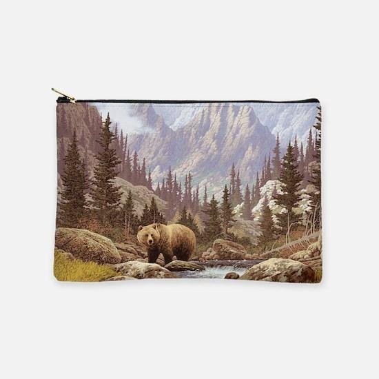 Grizzly Bear Landscape Makeup Pouch