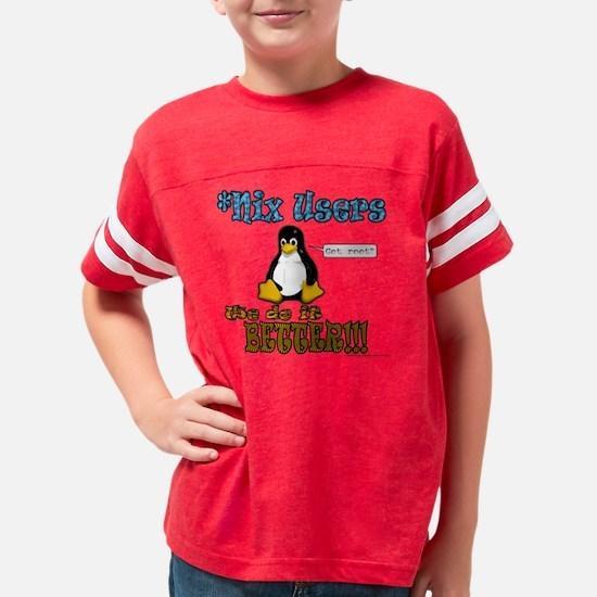nix_users_do_it_better_black Youth Football Shirt