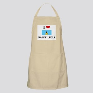 I HEART SAINT LUCIA FLAG Apron