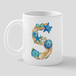 Beach Theme Initial S Mug