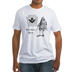 Brother Mason Ben Franklin, abstract Fitted T-Shir