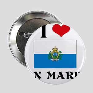 "I HEART SAN MARINO FLAG 2.25"" Button"