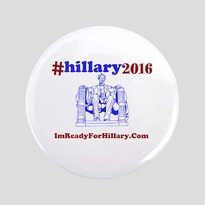 "3.5"" Button I'mReadyForHillary.Com"