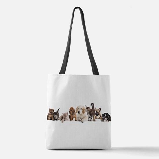 Cute Pet Panorama Polyester Tote Bag