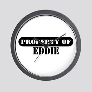 Property of Eddie Wall Clock