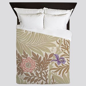Larkspur design by William Morris Queen Duvet