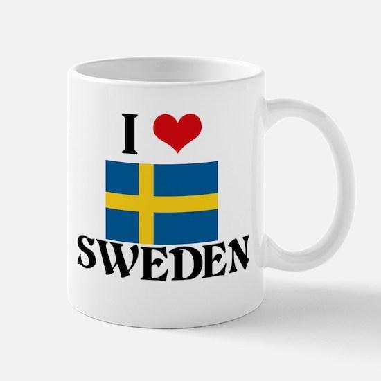 I HEART SWEDEN FLAG Mug
