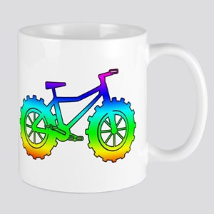 Rainbow fatbike Mug