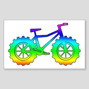 Rainbow fatbike Sticker