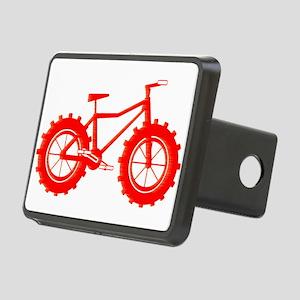 windblown red fat bike logo Hitch Cover