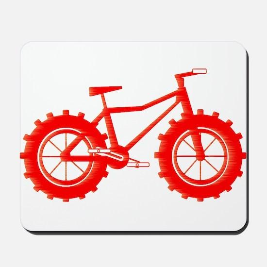 windblown red fat bike logo Mousepad