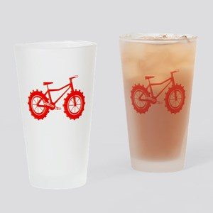 windblown red fat bike logo Drinking Glass